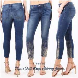 Piper Foil Crop Skinny Jeans